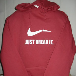 Just Break It Merlot Colored Hoodie size Large